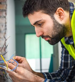 What kind of work does an electrician do?